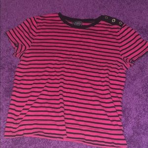 Pink and navy blue/black shirt